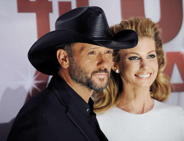 Tim McGraw and Faith Hill arrive at the 45th annual CMA Awards