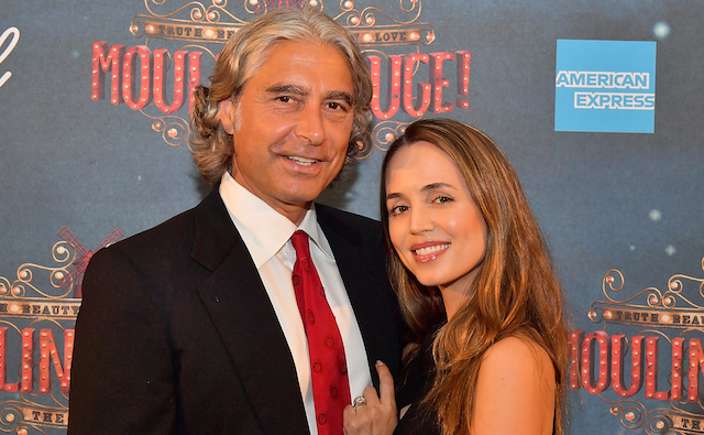 Peter Palandjian and Eliza Dushku attend the grand re-opening of Boston's Emerson Colonial Theatre