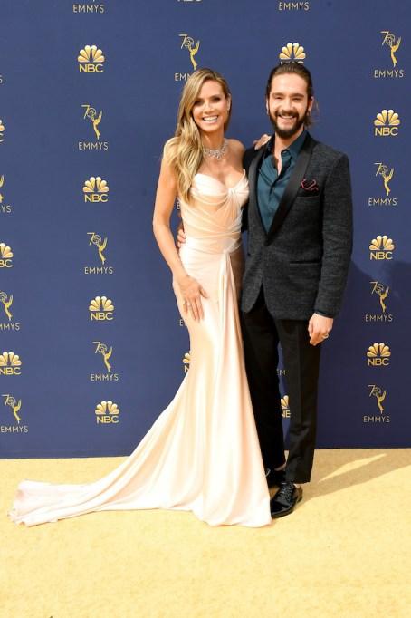 Heidi Klum and Tom Kaulitz attend the 70th Emmy Awards at Microsoft Theater