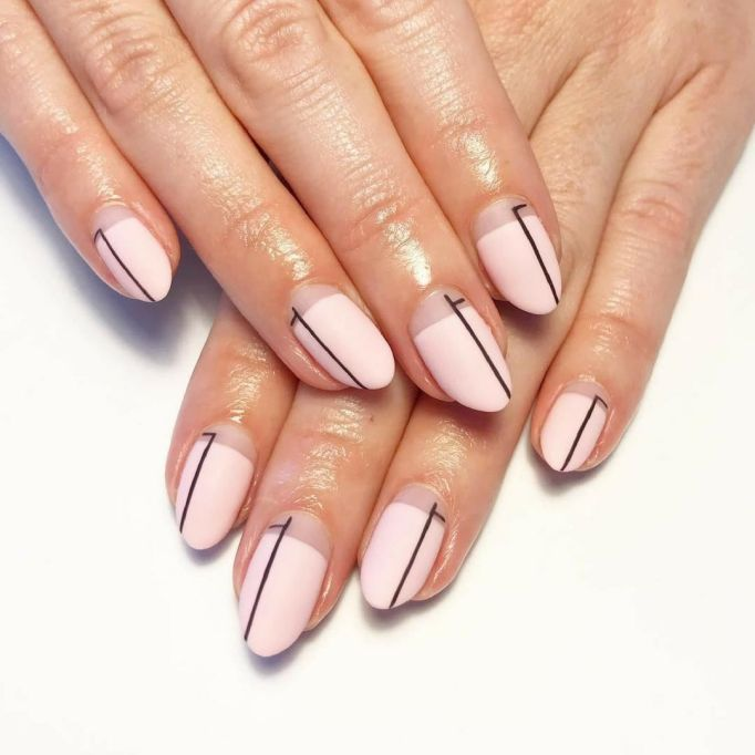 Pink with black accent lines