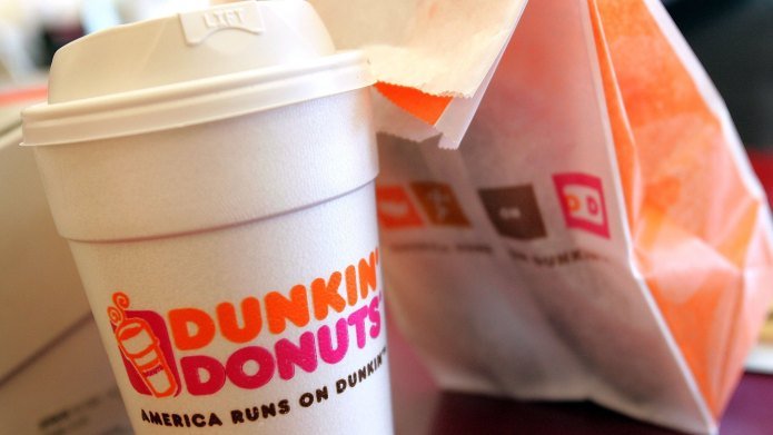 photo of dunkin donuts coffee cup
