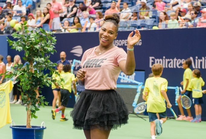 Serena Williams attends the 2018 Arthur Ashe Kids' Day at USTA Billie Jean King National Tennis Center on August 25, 2018