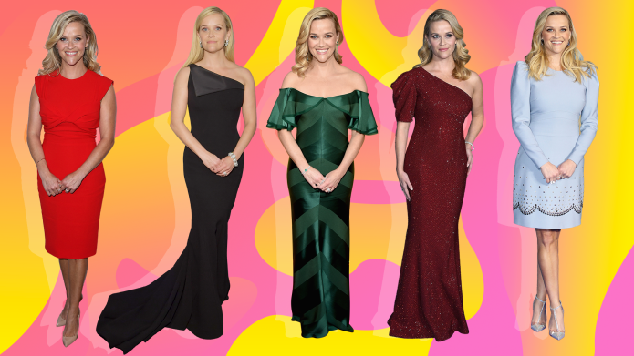Collage of Reese Witherspoon attends various