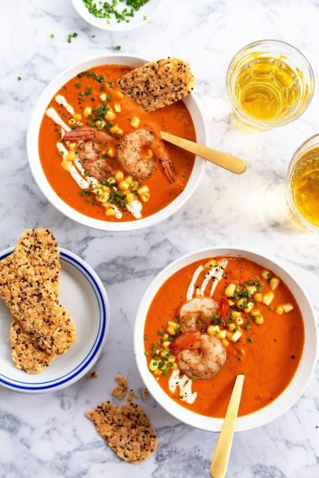 Zesty Shrimp and Corn Chowder