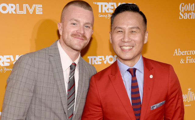 Richert Schnorr and B.D. Wong attend The Trevor Project TrevorLIVE NYC 2017 at Marriott Marquis Times Square
