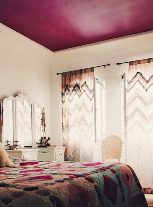 Fuschia Bohemian Ceiling