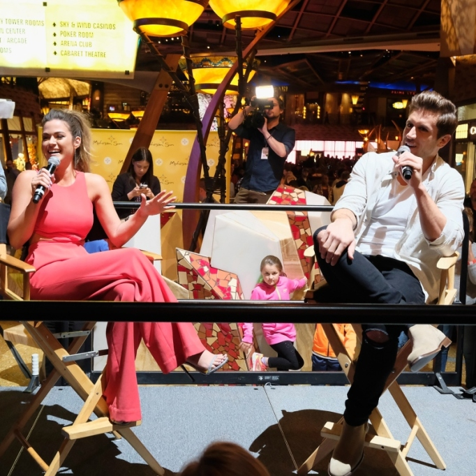 Jojo Fletcher and Jordan Rodgers of The Bachelorette meet with fans at Mohegan Sun during a Special Edition Reality Check event as part of the property?s 20th Anniversary at Mohegan Sun on October 14, 2016, in Uncasville, Connecticut.