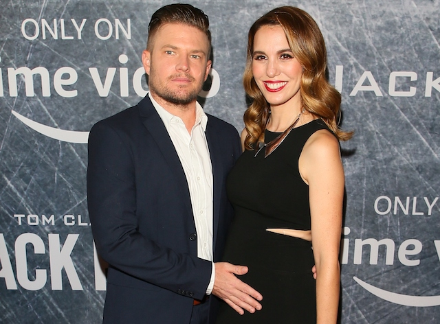 Christy Carlson Romano and husband Brendan Rooney attends the premiere of 'Tom Clancy's Jack Ryan' at The Opening Night of Los Angeles Fleet Week 2018 at Battleship Iowa