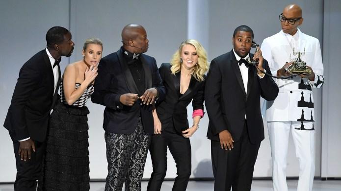 Celebs on stage at 2018 Emmy