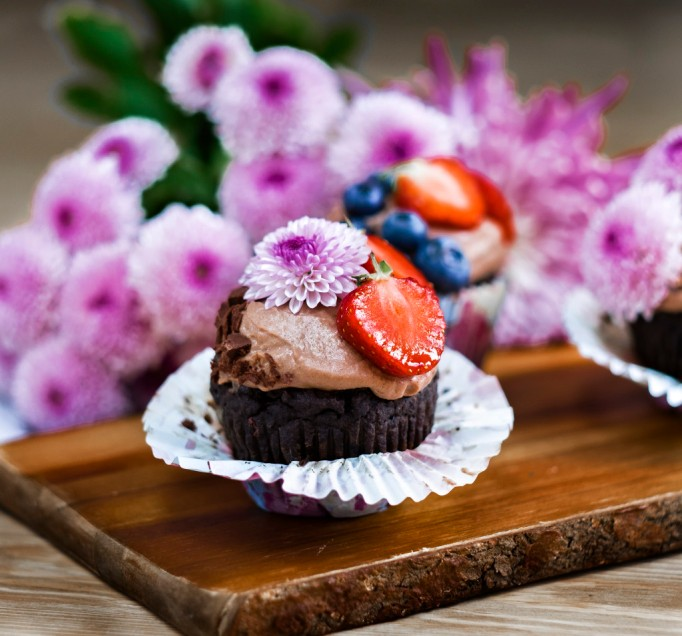 Reishi Chocolate Cupcakes
