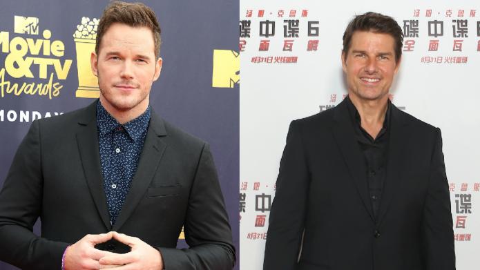 Chris Pratt and Tom Cruise on