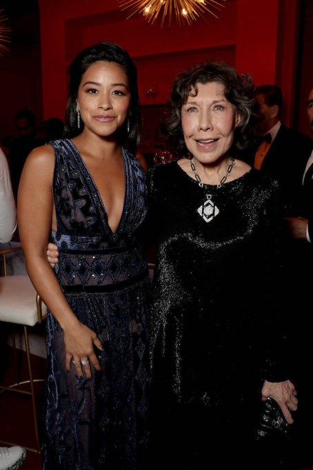Photo of Gina Rodriguez & Lily Tomlin at the 70th Emmy Awards Governors Ball