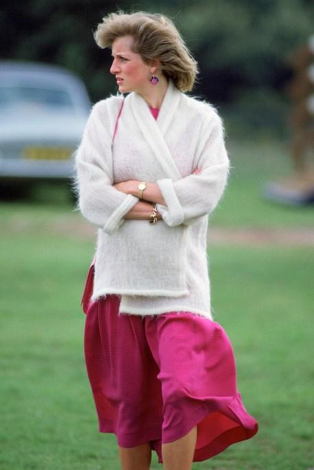 Princess Diana white cardigan