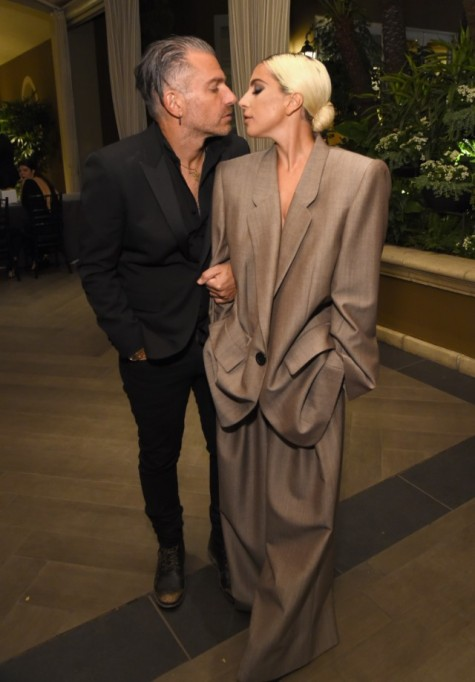 Christian Carino and Lady Gaga attend ELLE's 25th Annual Women In Hollywood Celebration presented by L'Oreal Paris, Hearts On Fire and CALVIN KLEIN