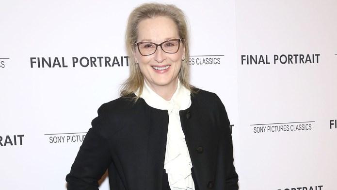 Meryl Streep attends the 'Final Portrait'