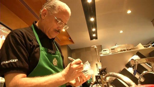 Starbucks senior citizen barista