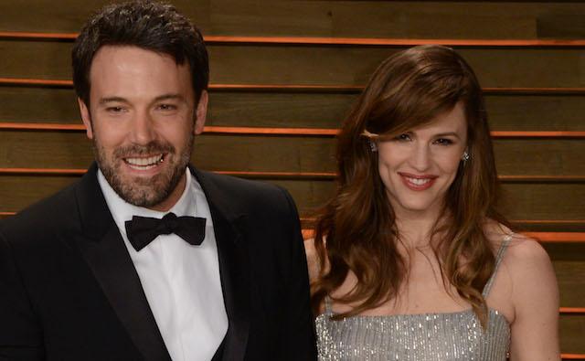Ben Affleck and wife Jennifer Garner arrive at the 2014 Vanity Fair Oscar Party