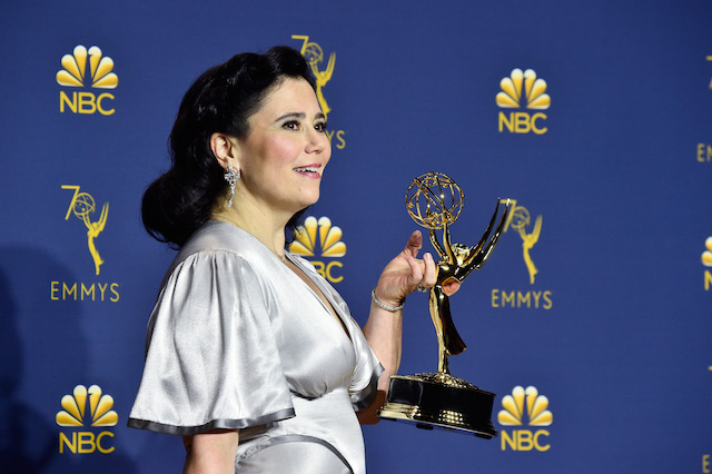 Outstanding supporting actress in a comedy series winner Alex Borstein poses in the press room during the 70th Emmy Awards at Microsoft Theater