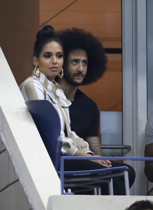 Colin Kaepernick and girlfriend Nessa Diab