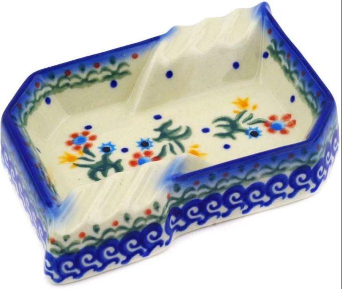 Spring Flowers Polish Pottery Theme Ashtray