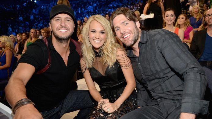 Luke Bryan, Carrie Underwood and Mike