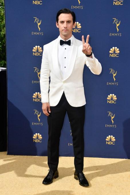 Milo Ventimiglia attends the 70th Emmy Awards at Microsoft Theater