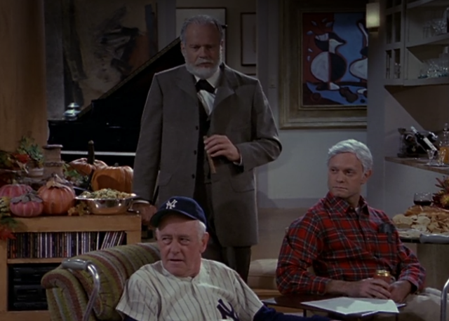 Still from 'Frasier': 'Room Full of Heroes'