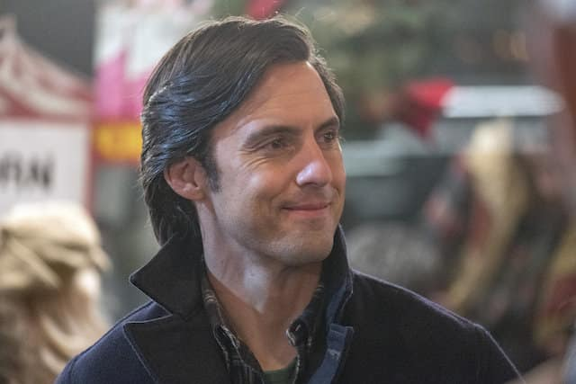 Jack (Milo Ventimiglia) smiles for someone off-screen.