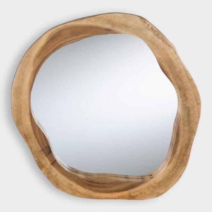 Round Natural Edge Mirror