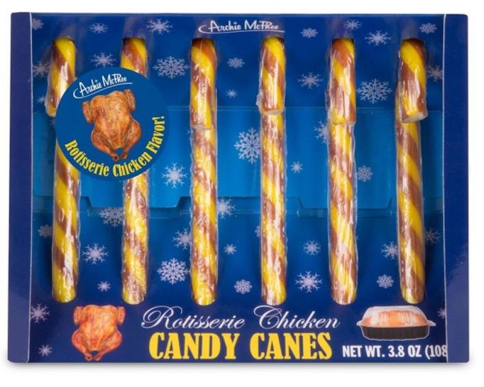 photo of rotisserie chicken candy canes