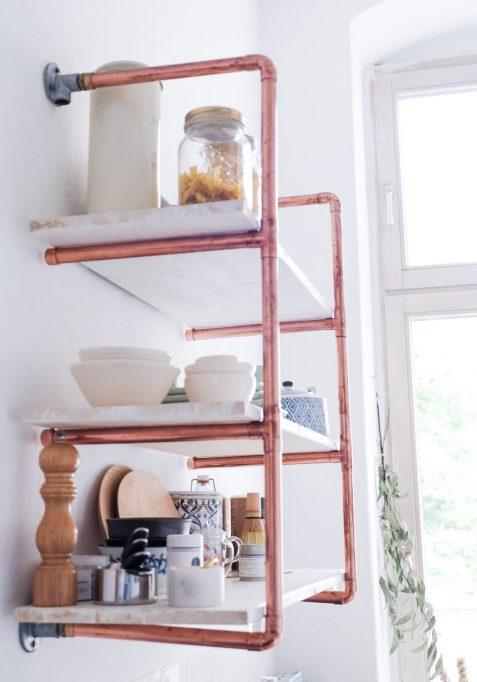 DIY Copper Pipe Shelf