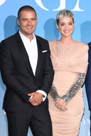 photo of katy perry orlando bloom red carpet