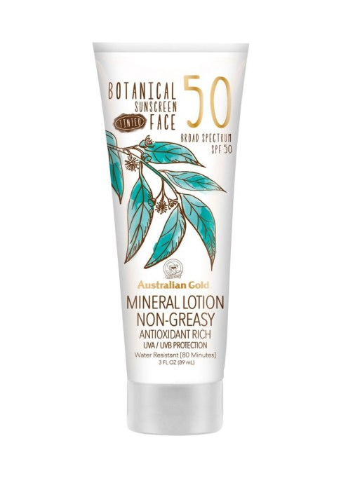 Australian Gold Botanical Sunscreen Tinted Mineral Lotion SPF 50
