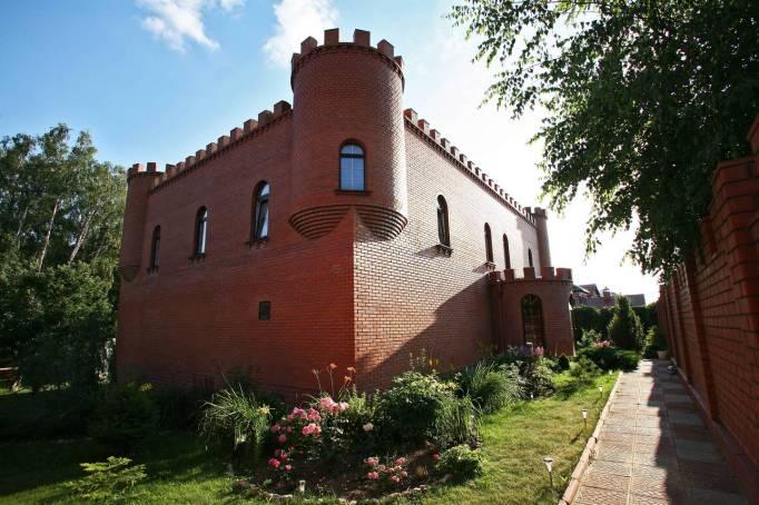 Chateau Pitau Castle in Vidnoye, Russia.
