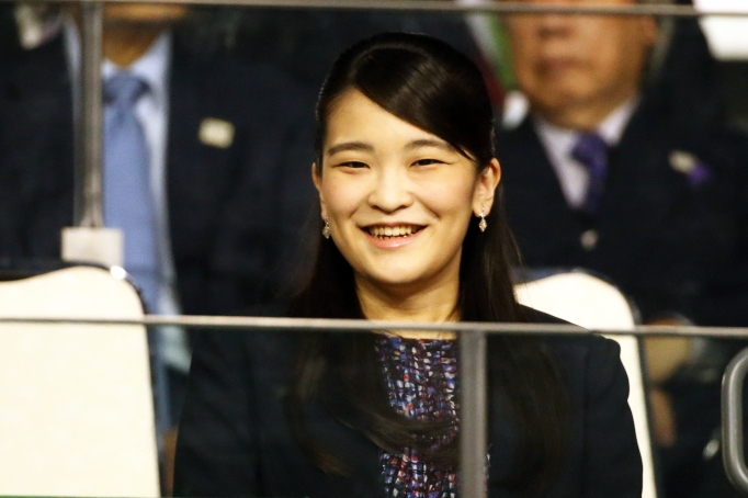 Princess Mako of Akishino looks on on day six of the Rakuten Open at Musashino Forest Sports Plaza on October 6, 2018