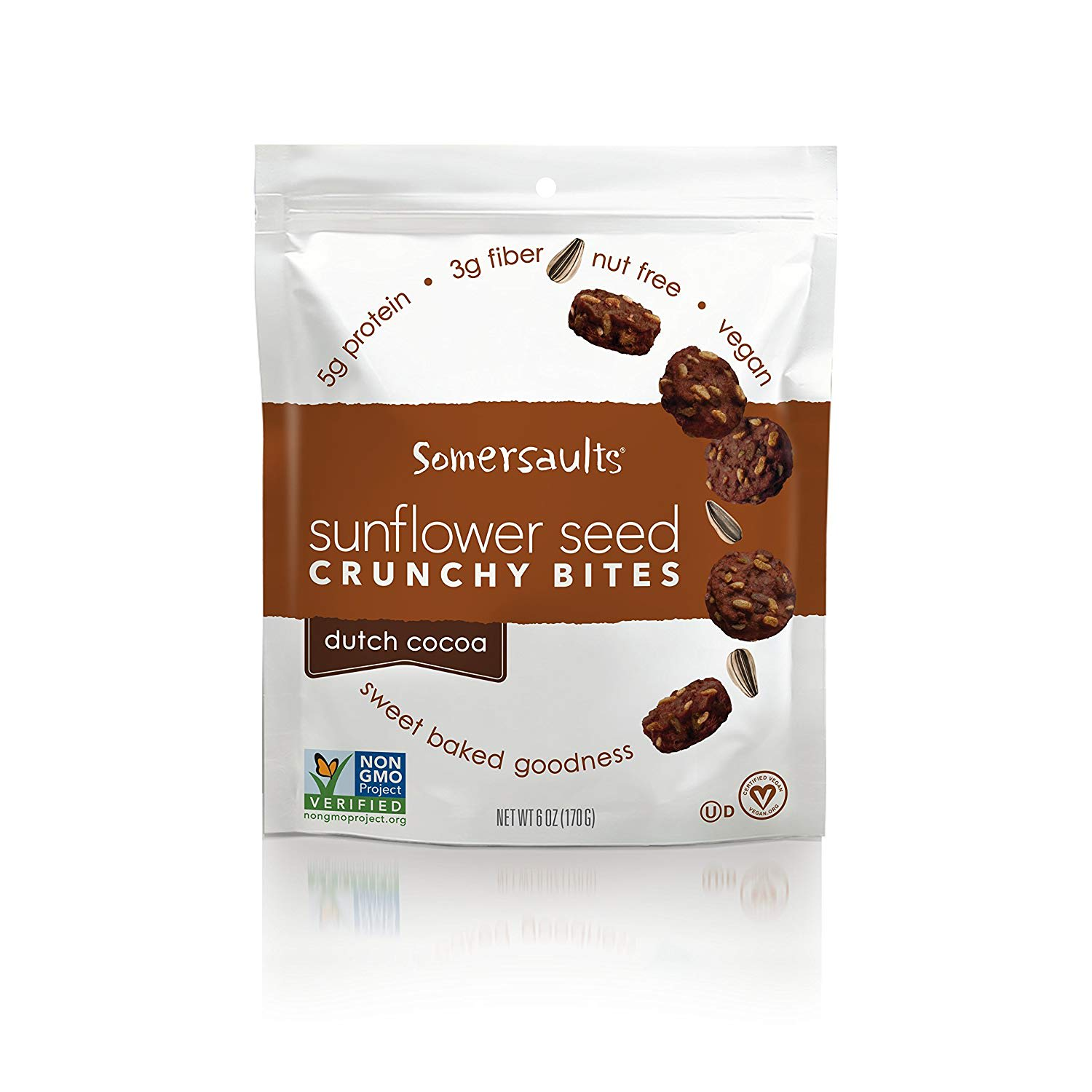 Somersaults Sunflower Seed Bites, Dutch Cocoa