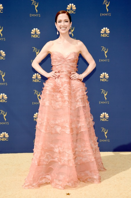 Ellie Kemper attends the 70th Emmy Awards at Microsoft Theater