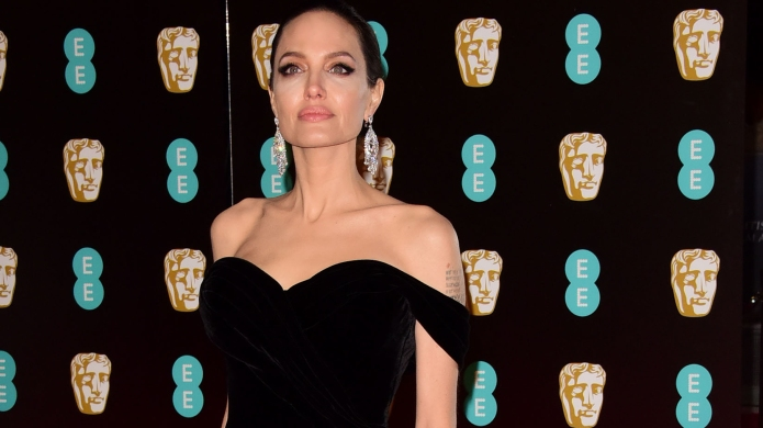 Angelina Jolie attending The EE British