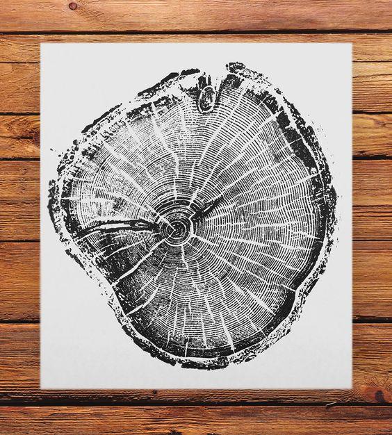 Tree Stump Printing