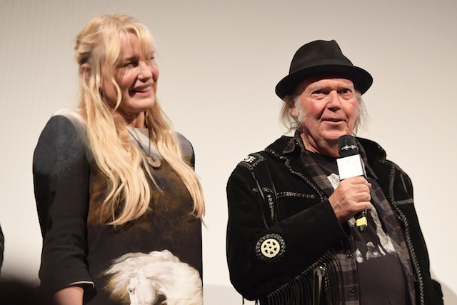 Daryl Hannah and Neil Young attend the 'Paradox' Premiere 2018 SXSW Conference and Festivals at Paramount Theatre