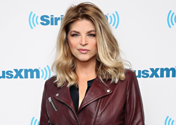 Kirstie Alley visits the SiriusXM Studios on January 6, 2016, in New York City