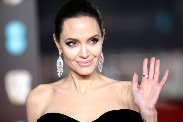 Angelina Jolie attending the EE British Academy Film Awards held at the Royal Albert Hall, Kensington Gore, Kensington, London