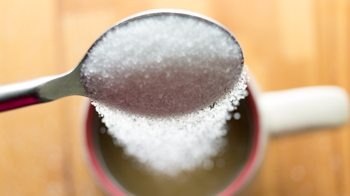 photo of sugar in coffee
