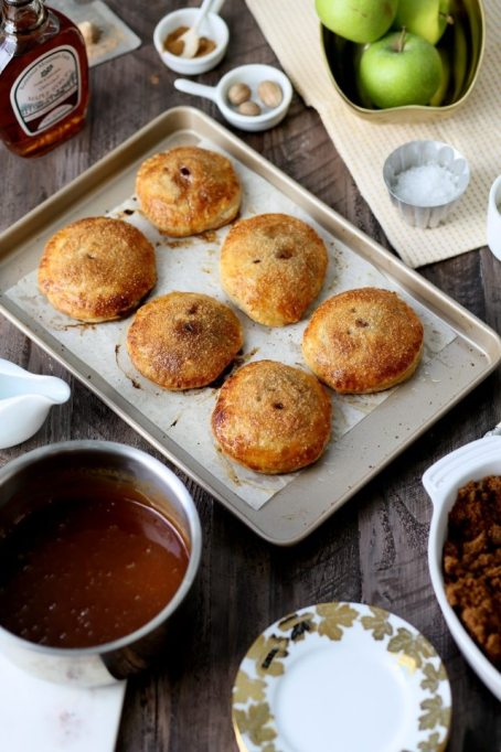Apple Dumplings with Salted Maple Caramel