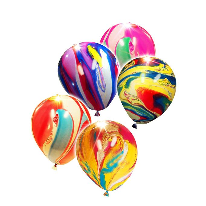 Glow in the Dark Marbled Balloons