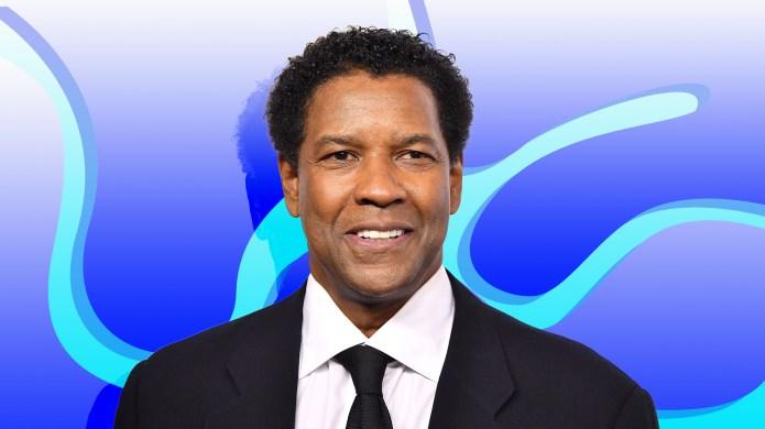 Treated image of Denzel Washington on