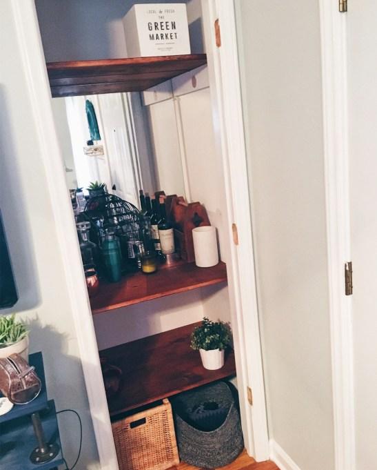 Simple Bar Closet DIY