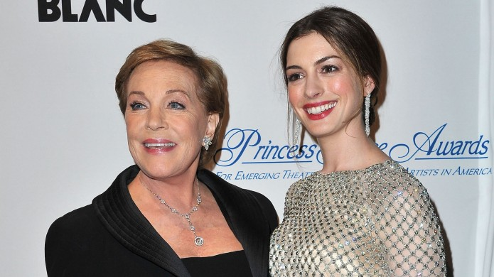 Julie Andrews and Anne Hathaway attend