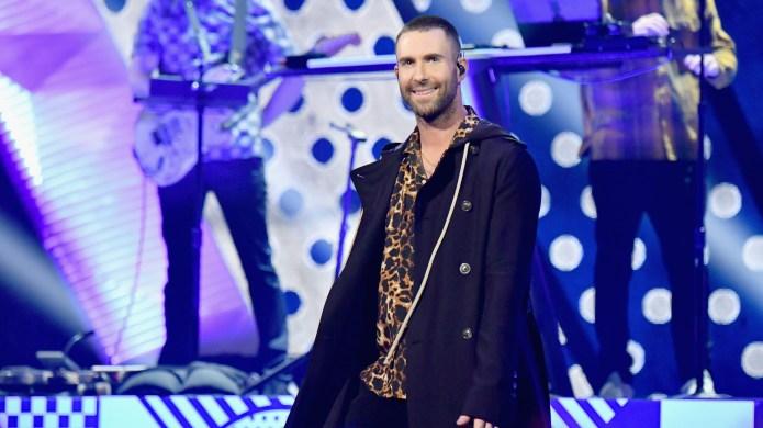 Adam Levine of Maroon 5 performs
