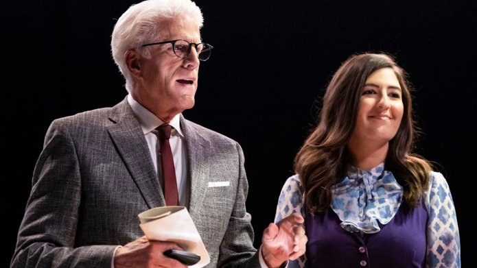 Ted Danson and D'Arcy Carden in